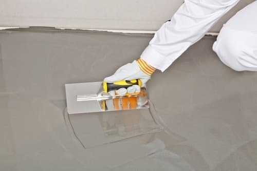 a contractor self-leveling