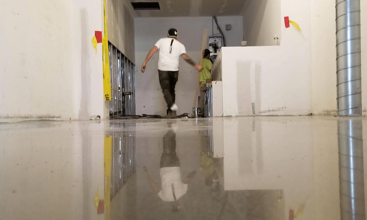 Clean Industrial epoxy floors