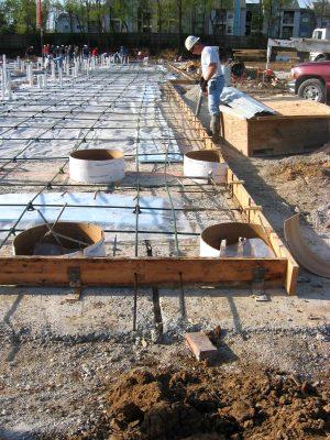 self leveling concrete construction