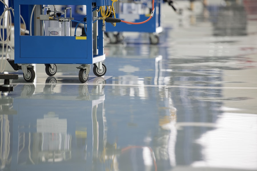 seamless surface chemical resistance epoxy flooring