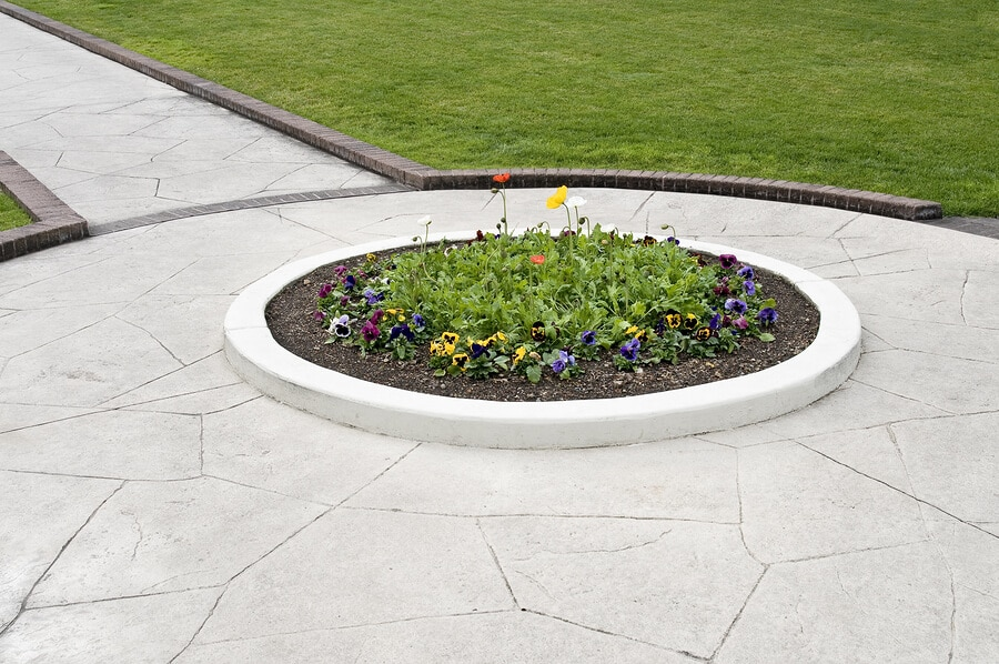 decorative concrete overlay walkway
