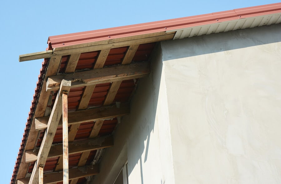 underside of soffits and fascia