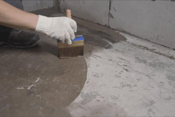 Basement concrete waterproofing